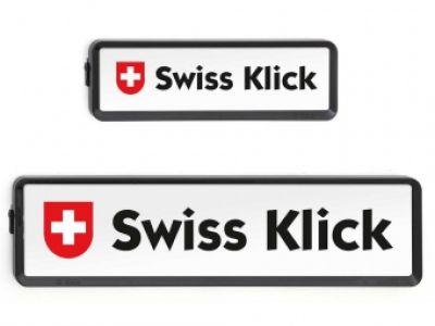 SWISS KLICK Nummernrahmen Langformat SET schwarz