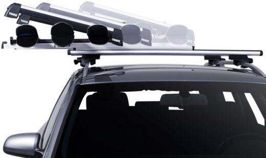 Skiträger zur Montage auf einem Auto-Dachträger - flexibel kombinierbar z.B. mit einer Dachbox